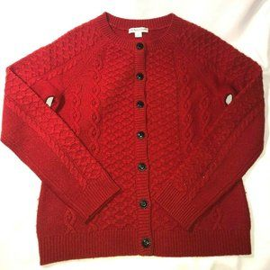 Pendleton Lambswool Cardigan Sweater Women's S RED